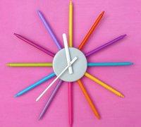 废旧水彩笔diy漂亮的小钟表