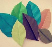 折纸叶子手工折纸教程 折纸树叶图解