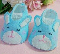 用不织布diy可爱的卡通动物宝宝布鞋