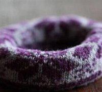 旧袜子变废为宝 diy冬季温馨手镯