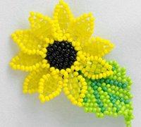 向日葵串珠首饰的手工串珠编法