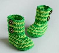 斑马条纹的宝宝鞋编织 怎样编织宝宝毛线鞋