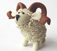 可爱的小绵羊软陶公仔 绵羊软陶制作教程