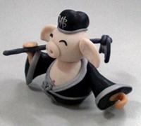 猪八戒软陶制作 《西游记》玩偶软陶diy教程