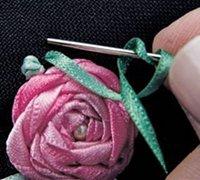 丝带绣教程之五角玫瑰绣图解