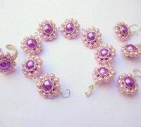 适合新娘佩戴的手工串珠珠花制作图解