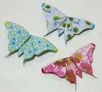 纸蝴蝶的折法 手工折纸蝴蝶书签