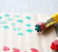 铅笔橡皮擦diy可爱的橡皮图章