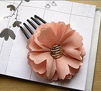 花朵形状的雪纺发卡发饰diy教程