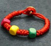 红绳串珠手链编法图解 中国结手链编法图解