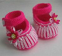 宝宝鞋子编织方法 毛线编织宝宝学步鞋