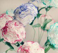 纸巾康乃馨的做法 康乃馨手工制作图解