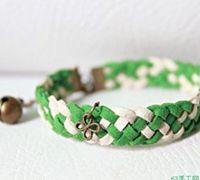 细皮绳编织漂亮的春款手链 手链编织教程