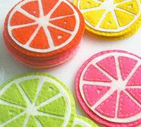 鲜活可爱的不织布酸橙主题布艺杯垫制作图解