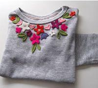 用手工不织布花朵来改造你的服饰