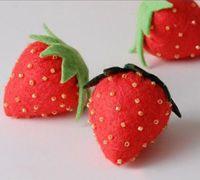 布艺草莓diy手工布艺教程