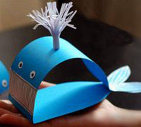 可爱的小鲸鱼折纸手工小制作