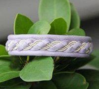 时尚气质的皮绳手链编织方法