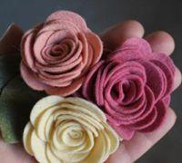 不织布布艺玫瑰花制作图解 玫瑰花头饰制作
