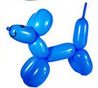 气球造型教程 可爱小狗狗气球造型图解