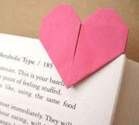 爱心形折纸书签制作方法