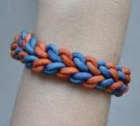 绳子编织手链教程 两股绳子编织手链