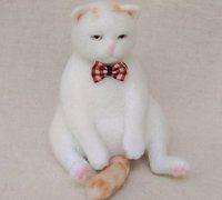 羊毛毡小动物制作教程 羊毛毡猫咪制作方法