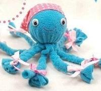 diy手工布偶 不织布手工制作可爱的小章鱼