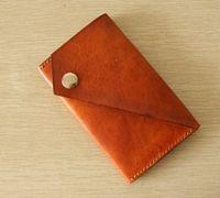 手工钱包制作教程 DIY皮革钱包制作图纸