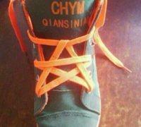 怎么系鞋带好看 五角星鞋带系法图解