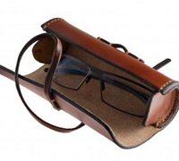 圆形皮革眼镜盒的做法 手工眼镜盒制作