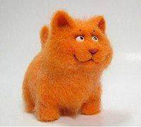 羊毛毡diy可爱的加菲猫