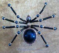 美丽的手工串珠蜘蛛饰品diy图解教程