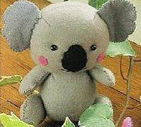布艺小熊图纸 不织布制作可爱的考拉小熊