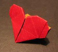 心形信封折纸图解 心形折纸教程