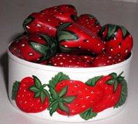 鹅卵石手绘草莓 鹅卵石彩绘教程