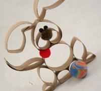 http://www.63diy.com卫生纸筒废物利用diy可爱的兔子