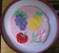 儿童布贴画制作方法 童趣水果布艺拼贴手工