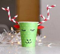 一次性纸杯创意制作 一次性纸杯diy可爱的小鹿