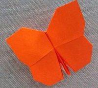 蝴蝶折纸之小粉蝶的折法 昆虫折纸教程