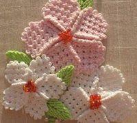 清新唯美的毛线小花的编织手工