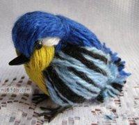 毛线小鸟的做法 美丽的小鸟diy图解
