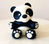 熊猫宝宝软陶制作 软陶制作可爱的熊猫