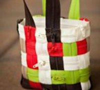 拉链拼接手提包创意手工教程