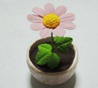 盆栽向日葵粘土制作 很有爱的向日葵小盆栽