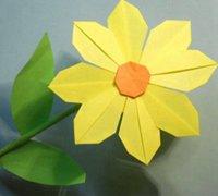 清新素雅的折纸小花朵diy教程