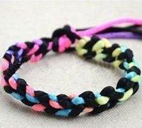多彩的手工编绳手链编织教程
