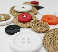 麻绳创意diy 麻绳与钮扣diy装饰小物