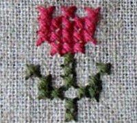普通布料上也可以绣十字绣 创意十字绣教程