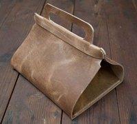 创意皮革午餐手提包 简单实用